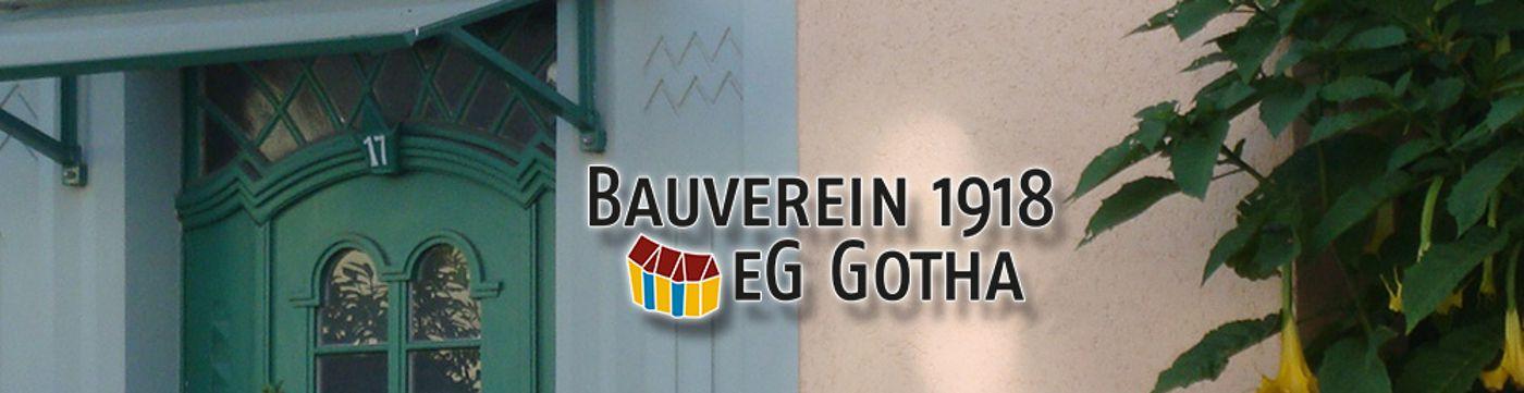 Bauverein 1918 eG Gotha - Banner